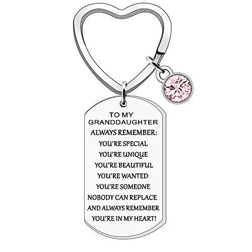 FMCC Granddaughter Gifts Keyring Inspirational Gift for...