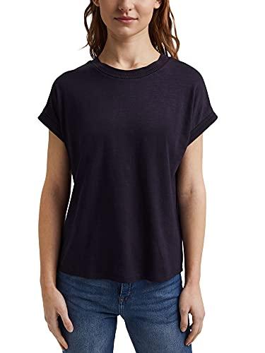 ESPRIT Shirt mit Ajour-Details, Bio-Baumwolle/Tencel™
