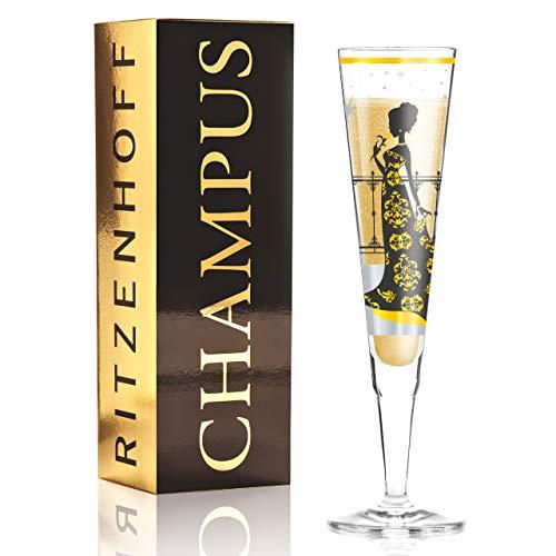 RITZENHOFF Champus, Flûte À Champagne avec Serviette, 20 Cl, Design Automne 2014, Carolin Körner, 1070212