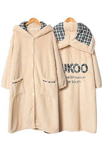 チェック柄 ルームウェア 前開き ネグリジ カーディガン ルームワンピー着る 毛布 フード付 あったか 寒さ対策 防寒 寝具 厚手 ルームウェア 冬用 ガウン レディース パジャマ バスローブ