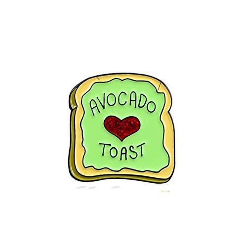 Cartoon Brosche Rotes Herz Avocado Toast Toast Food Brosche Kind Niedliche Cartoon Food Dessert Brosche Person