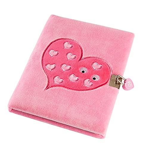 Tinc SGJOURPK - Diario con cerradura (A5, tacto suave, con cerradura), color rosa