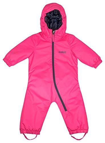 icefeld icefeld Schneeoverall/Skianzug für Babys und Kleinkinder (Jungen und Mädchen), pink in Größe 86/92