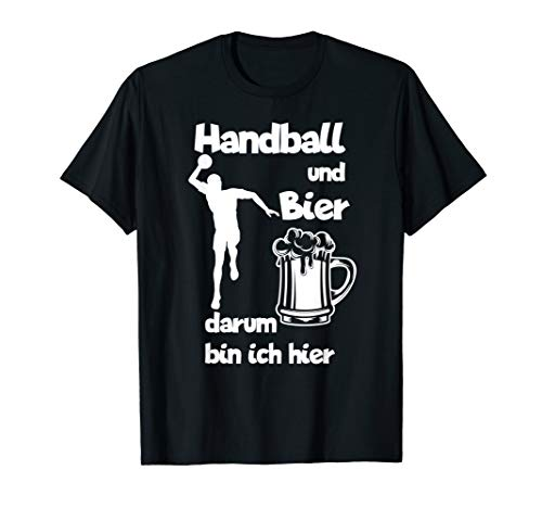 Handball und Bier I Geschenk Handballer T-Shirt