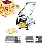 CABINA HOME Pommes Frites Schneider Pommesschneider Edelstahl Kartoffelschneider Gemüseschneider mit