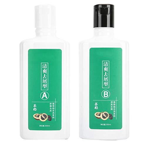 Champú hidratante, nutrición vegetal saludable y duradera, mejora el cabello gris, mejora la calidad del cabello, para peluquería mujer(Must stop shavings 300mL*2)