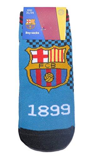 Calcetines 100% oficiales del FC Barcelona FCB para niños | Messi Suarez Neymar-UK 6-8 (EU 23-26)-Diseño 9