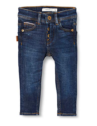 NAME IT Baby-Jungen NMMSILAS DNMTEXAS 3304 Pant Bet NOOS Jeans, Blau (Dark Blue Denim Dark Blue Denim), (Herstellergröße: 80)
