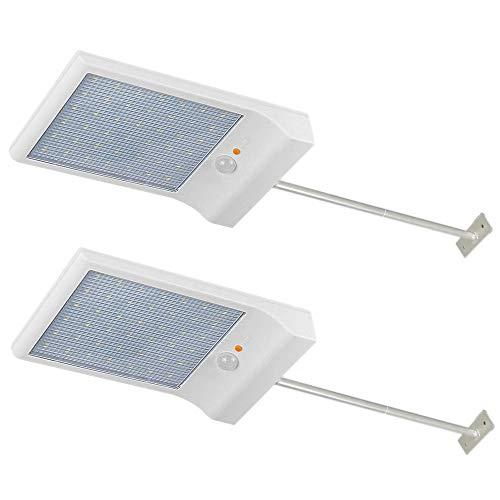 Lámpara solar Luces Jardín 42 LED solares exterior foco le