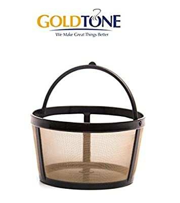 GoldTone Reusable 4 Cup Basket Mr. Coffee Replacment Coffee Filter - Mr. Coffee Permanent Coffee Filter for Mr. Coffee Maker and Brewer