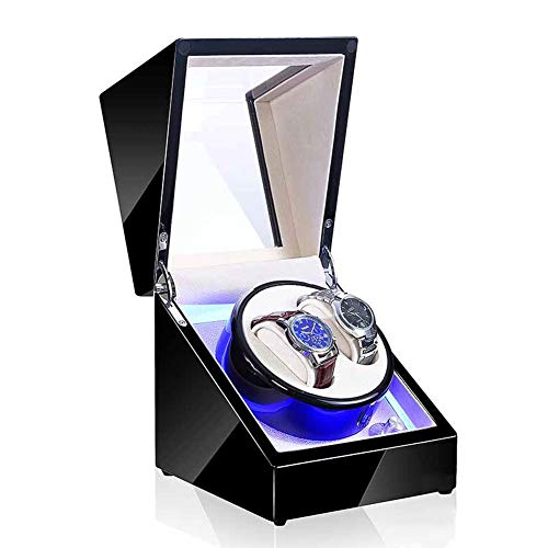 Jlxl Automatisch Uhrenbeweger, Mit LED-Licht 5 Rotationsmodi Leiser Motor Uhren Aufbewahrungsboxen - 9 Arten Erhältlich Zubehör (Color : F)