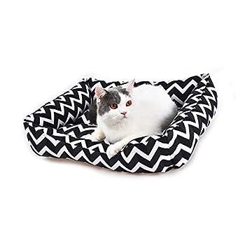 YGJT Lit pour Chats/Petit Chien Sofa Coussin de Couchage Panier de Haute Qualité Tapis Accessoire pour Animaux Domestiques 52x40x13cm (Noir)