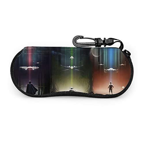 Star Wars - Funda para gafas, portátil, con cremallera, funda para gafas de sol
