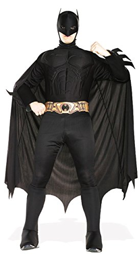 Rubie's Deluxe Muscle Chest Adult Batman Costume, Black, Large