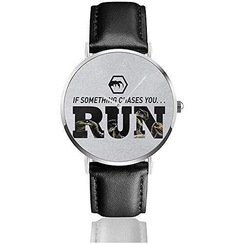 Unisex Business Casual Park Si Algo te persigue Corres Relojes Reloj de...