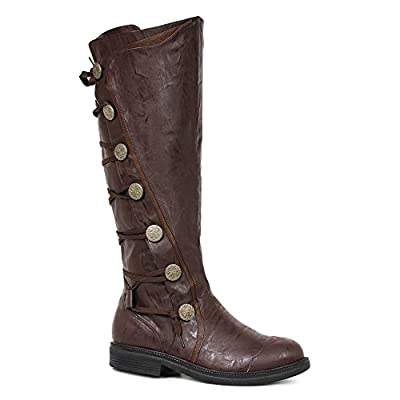 """Mens Fresco Brown Knee High 1"""" Period Boots Size Medium 10-11 from Ellie Shoes"""