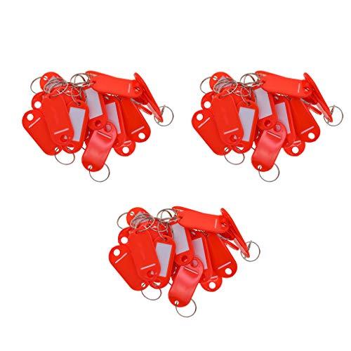 Baoblaze 150 Pièces Porte-clés étiquette de Bagage étiquette de Bagage Valise avec