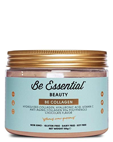 BE ESSENTIAL BE Collagen Chocolate 150G, Negro, Estandar