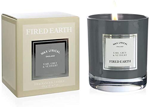 Fired Earth Kerze, Earl Grey/Vetiver