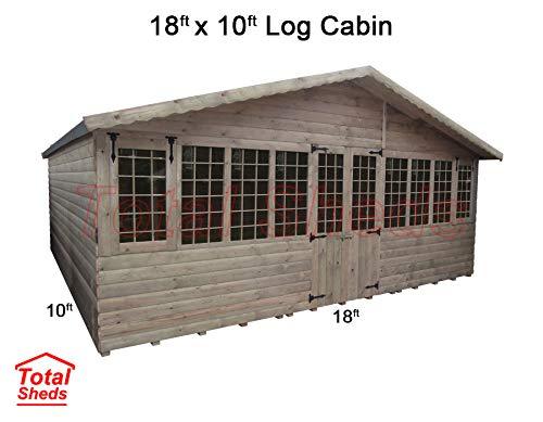 Total Sheds 18ft (5.4m) x 10ft (3m) Summer House Log Cabin Ultimate Cabin