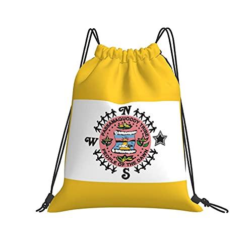 Bolsa de cordón Passamaquoddy Tribe Drawstring Bags Beam Mouth Gym Sack Travel Storage Rucksack String Bags for Men Women