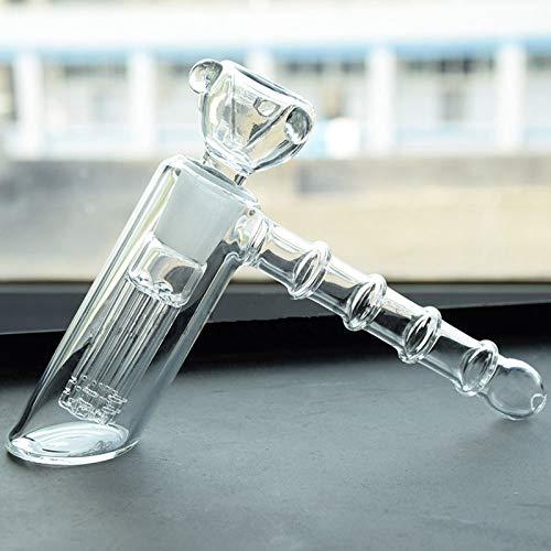 HAORONG Glass Hookah Hammer Percolator Bubbler Water Bong...