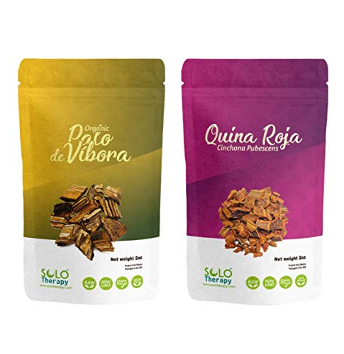1 Palo De Vibora 2 oz & 1 Quina Roja 2 oz. COMBO PACK , RESEALABLE BAGS, Quina Roja Bark, Palo De Vibora Te , Cinchona Bark , Palo De Vibora Raiz , Peruvian Bark , Product From Mexico , Packaged in the USA