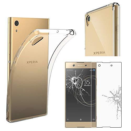 ebestStar - kompatibel mit Sony Xperia XA1 Ultra Hülle XA1 Ultra/Dual (2017) Handyhülle [Ultra Dünn], Klar Flex Silikon Schutzhülle, Transparent +Panzerglas Schutzfolie [Phone: 165x79x8.1mm 6.0