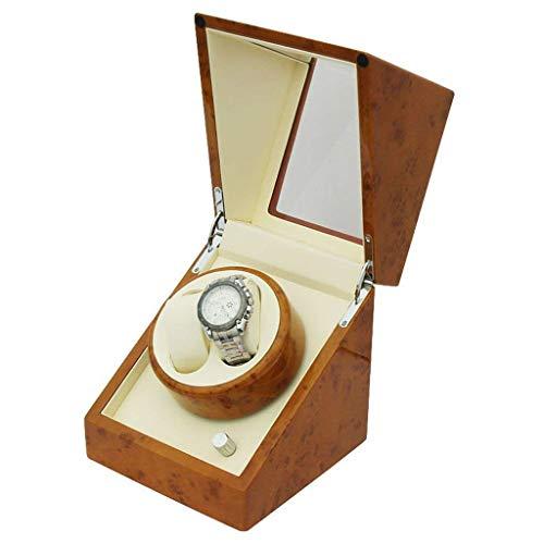 Enrollador de reloj, dispositivo de mesa vibratoria Caja de reloj de cuerda Agitador Caja de reloj de reloj Motor Mesa oscilante giratoria eléctrica Caja de madera Caja de reloj de cuerda automática