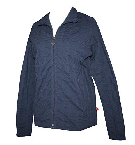 Schneider Sportswear Damen Steppjacke Fleece Jacke warme Kuscheljacke (40, dunkelblau)