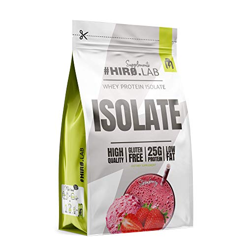 Hiro.Lab Whey Protein Isolate – 1 pack x 700g – Lean Muscle Mass Gain – Low Fat – High Protein Source – Without Artificial Colourants – Gluten Free (Strawberry)