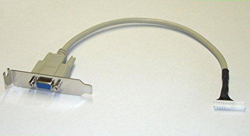 HiCuCo VGA Adapter/VGA Anschlusskabel RS für Acer Aspire easyStore H340, H341 und H342, Lenovo ideacentre D400