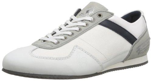 le coq Sportif Calgary Nylon/Lea, Sneaker Uomo, Bianco (Blanc (White/Eclipse), 44