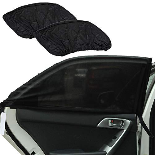 Graceme UV Schutz Sonnenschutz Auto Baby (2 Stück) Sonnenschutzrollo Sonnenblenden für Kinder Seitenscheiben Flexibel Geeignetfür Auto SUV (XL)