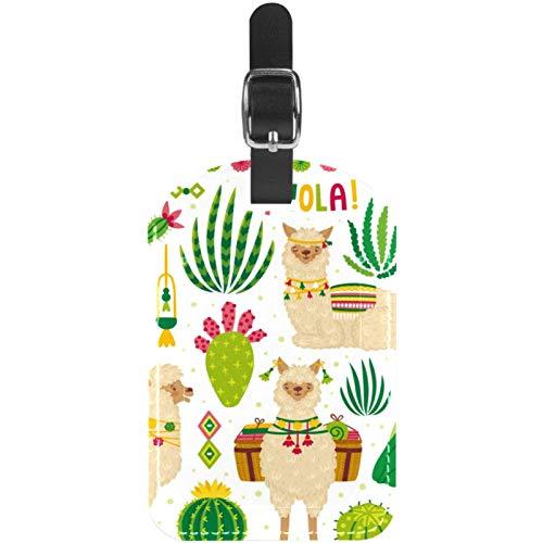 Gepäckanhänger Bright Summer Poster Alpaka Leder Reise Koffer Etiketten 1 Packung