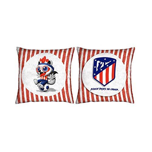 Atlético de Madrid. Cojines Estampados de 50x50cm.con Licencia Oficial del Club. (Cojín...