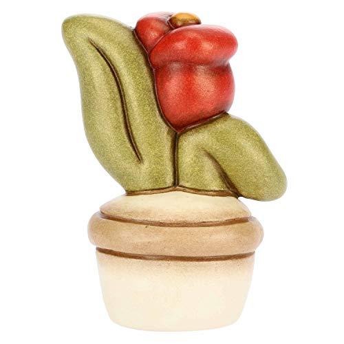 THUN - Vasetto Decorativo con Tulipano - Soprammobile - Bomboniere e Accessori per la Casa - Linea I Classici - Formato Piccolo - Ceramica - h 6,1 cm
