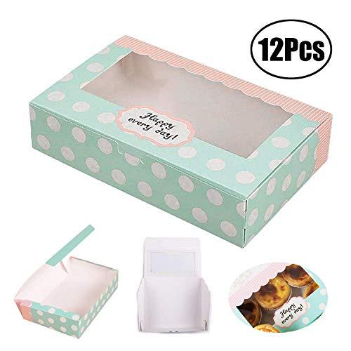 Lvcky - Juego de 12 Cajas de Papel para Tartas