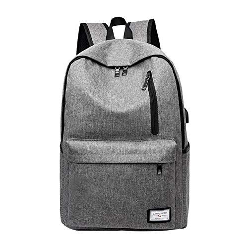VICTOEZaino da donna da viaggio, da uomo, tinta unita, elegante e minimalista, borsa per computer portatile, grande capacità, grigio (Grigio) - VICTOE-5648