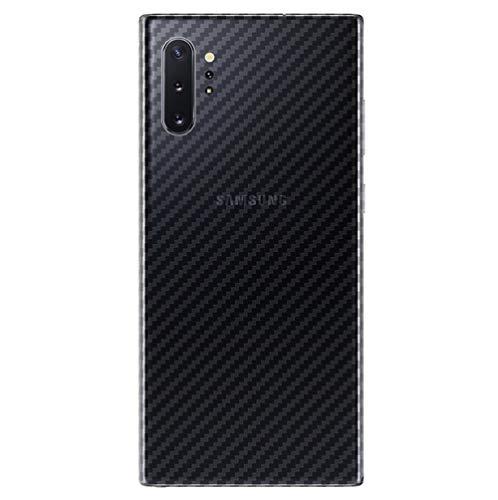 NOKOER Schutzfolie Rückseite Folie für Samsung Galaxy Note 10 Plus, [3 Stück] 0.1mm Superdünn Carbon Muster Rückseite Folie, Kratzfest Anti Fingerabdruck rutschfest