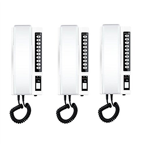 3pcs Wireless Intercom System 433Mhz Secure Interphone Handsets