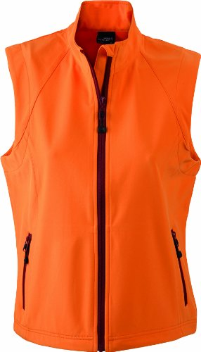 James & Nicholson Damen Jacke Softshellweste orange (orange) X-Large