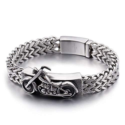Beydodo Edelstahl Armband Freundschaft Motorrad Silber Charm Armband Partnerarmband 22CM