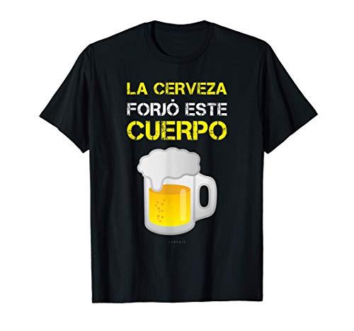 Hombre Cerveza Forjó Cuerpo Camisetas Hombre Divertidas Manga Corta Camiseta