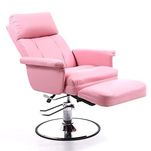 HUAYIN Silla Decorativa para Sala de Estar, sillón de peluquería para salón de Belleza | Silla de Peluquero giratoria 360 para Leer Silla de Juegos de computadora Casual,Rosado