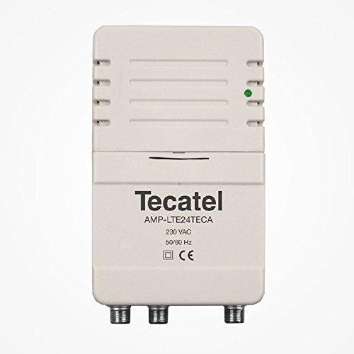 Tecatel - Amplificador de señal Interior para Antena de televisión, 2 Salidas, con Filtro LTE