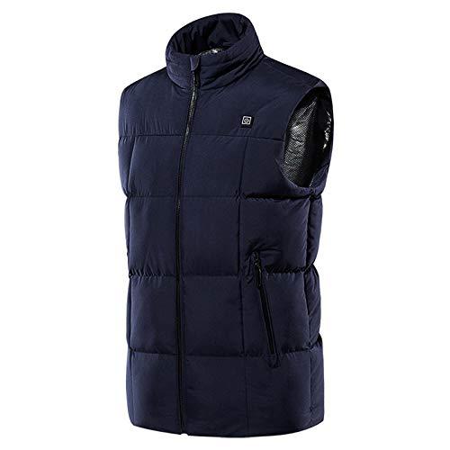XINGX Chaleco eléctrico con calefacción, USB cálido, para hombres y mujeres, 9 zonas de calefacción, lavable, ligero, calentador de cuerpo para invierno al aire libre