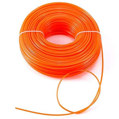 Odoukey 2,4 mm x 125m Strimmer línea de Alambre Strimmer Cable eléctrico para el jardín Strimmer Hierba Strimmers eléctrico - Ronda Línea