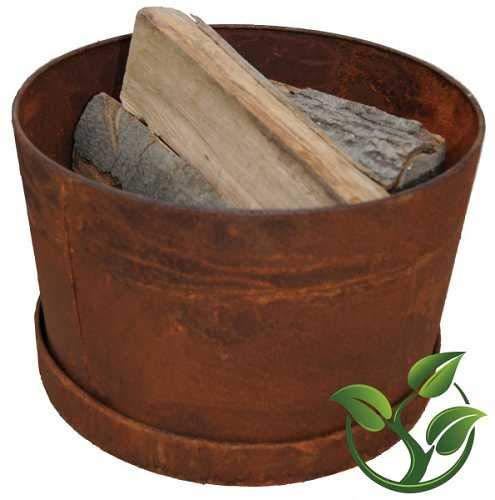 mgc24® Feuerschale für Garten und Terrasse »Hestia« | rund ca. 38x38x24cm | Stahl Rostoptik