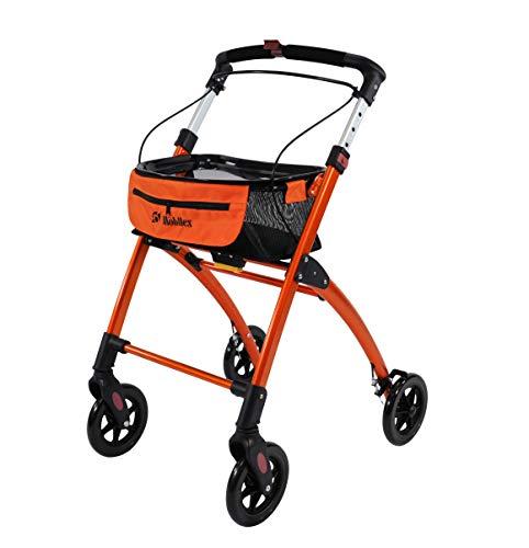 Mobilex Jaguar Rollator für den Innenbereich, Orange